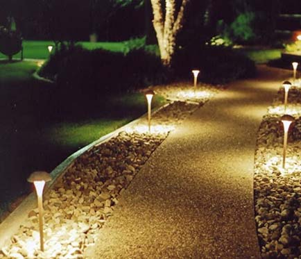 outdoor walkway landscape lighting project Victoria BC