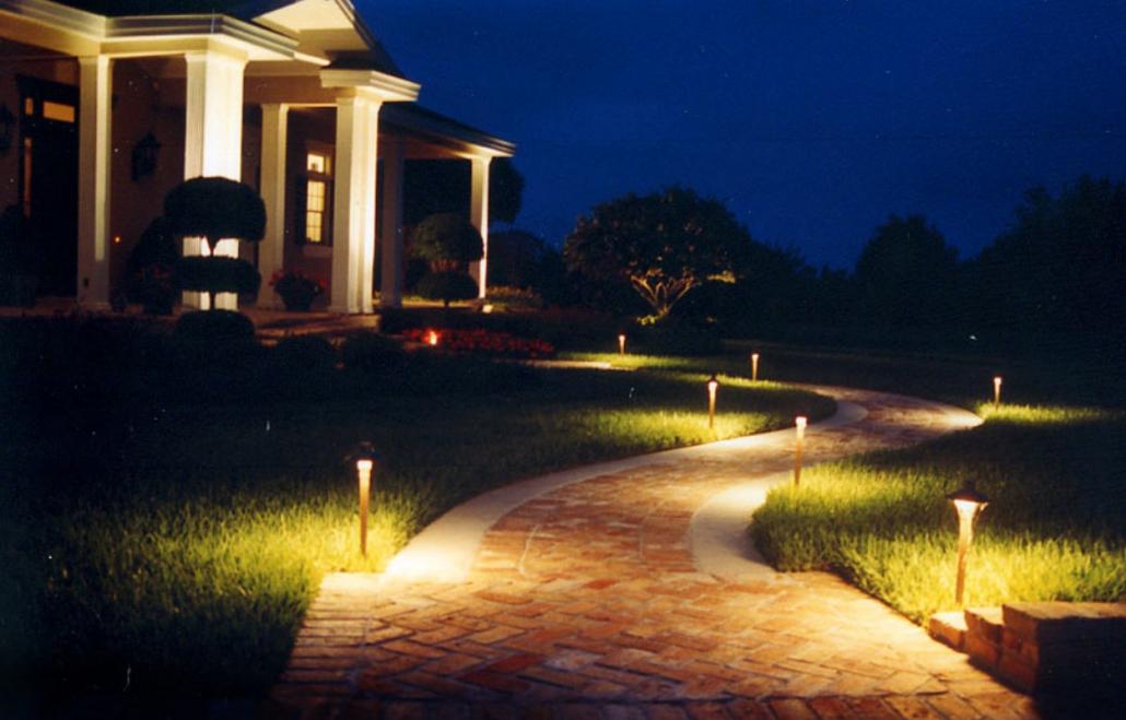 walkway landscape lighting project Victoria BC